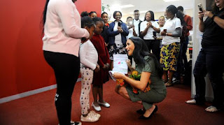 Duchess of Sussex at Action Aid in Johannesburg