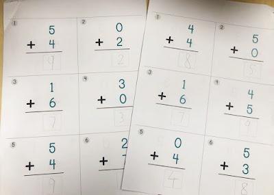 Mama Love Print 自製工作紙 K2  - 直式10以內加法 Addition Math Worksheets Printable Freebies Kindergarten Activities