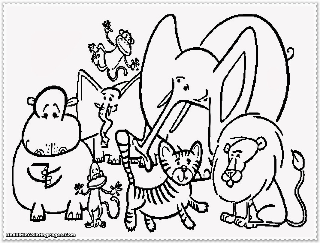 printable zoo animal coloring pages - photo#37