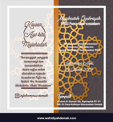 Mujahadah Syahriyah Penyiar Sholawat Wahidiyah Kecamatan Wonosalam