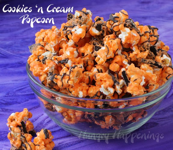 Orange And Black Halloween Popcorn