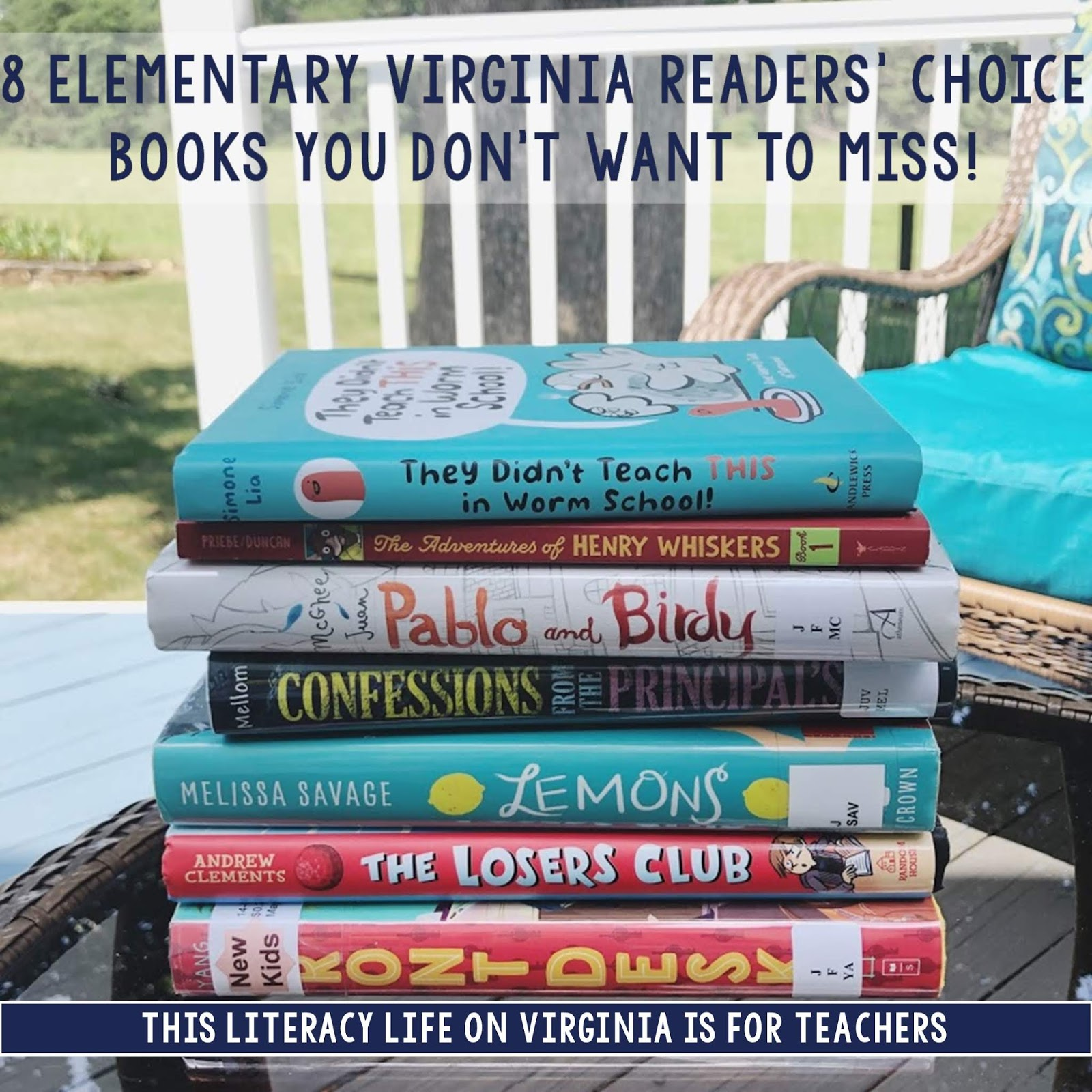 You don't want to miss out on these fun Virginia Readers' Choice chapter books that can be used in so many ways.