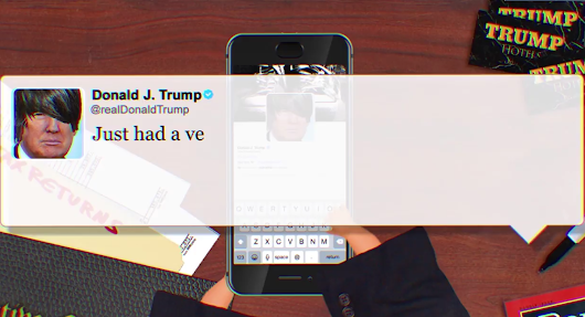 Listen Trump's tweets operated like an Old 2000s Emo Song