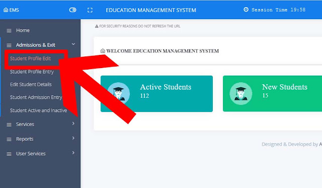 HOW TO ENTER NEW ADMISSIONS 2021-22 & STUDENT PROFILE PART1 EDIT OPTION IN STUDENT INFO SITE