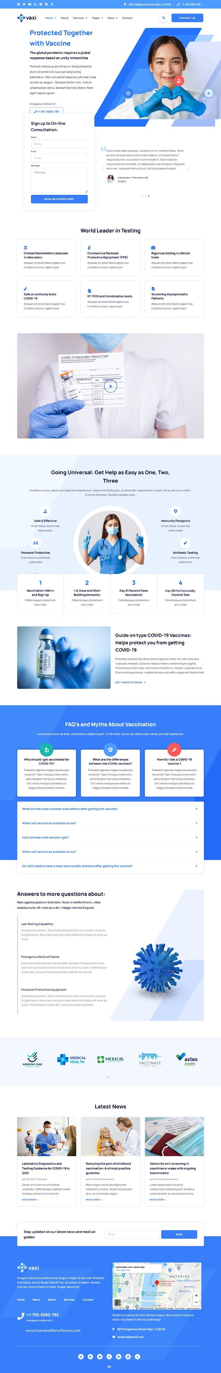 Covid-19 Vaccination & Health Services Elementor Template Kit
