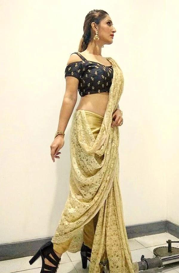 Stunning hot photos of Shivangi Verma in saree - actress from Choti Sarrdaarni and Black Rose.