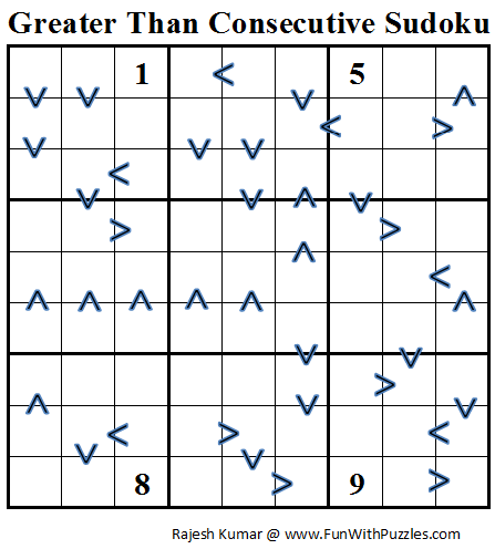 Greater Than Consecutive Sudoku (Daily Sudoku League #66)