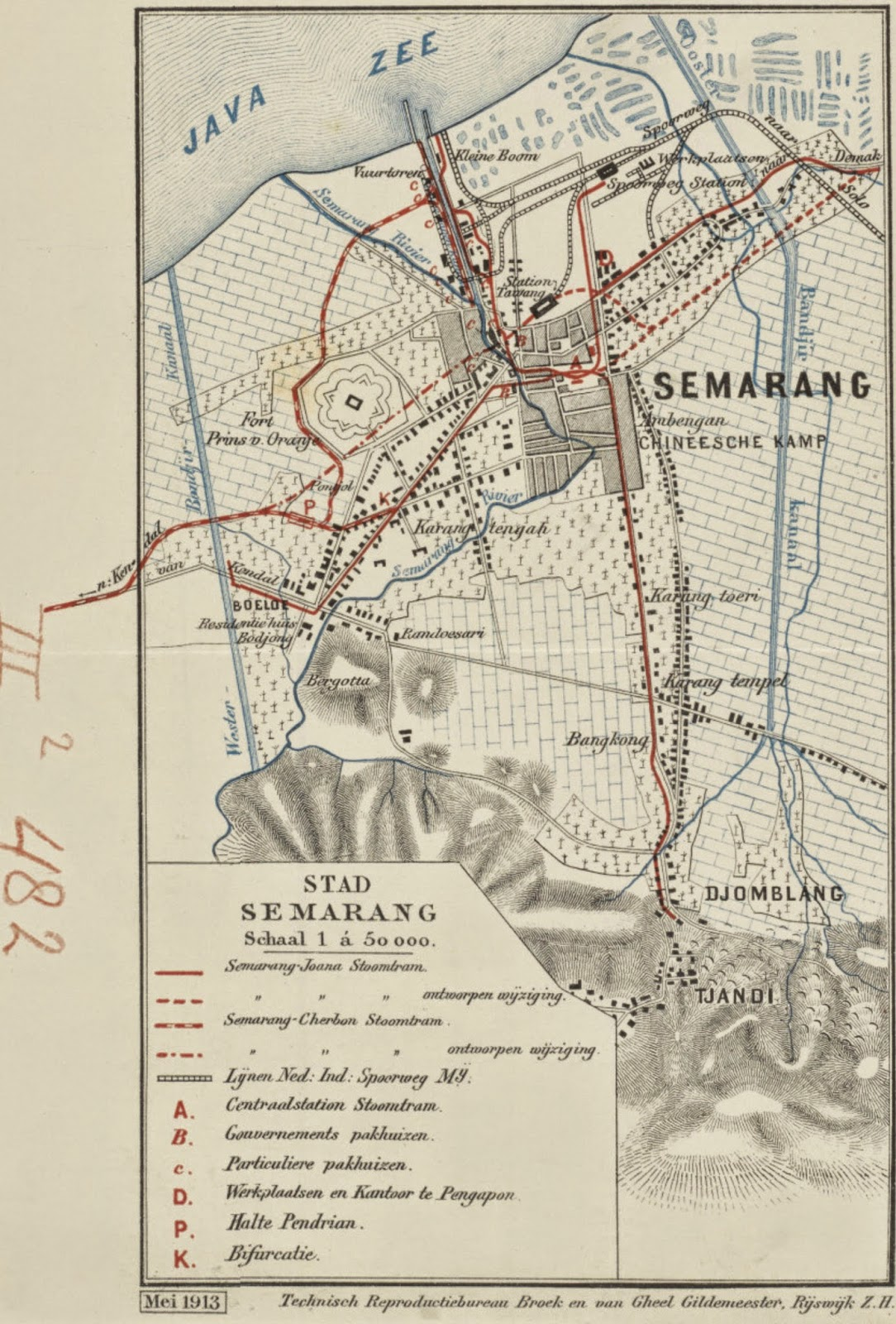 East Java Indonesia 1920 Map To Make One Feel At Ease And Energetic Pasuruan & Mount Bromo Malang & Environs Tosari