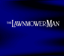 The Lawnmower Man snes title screen