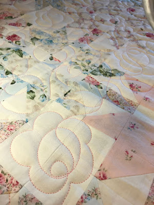 rose and leaf quilting