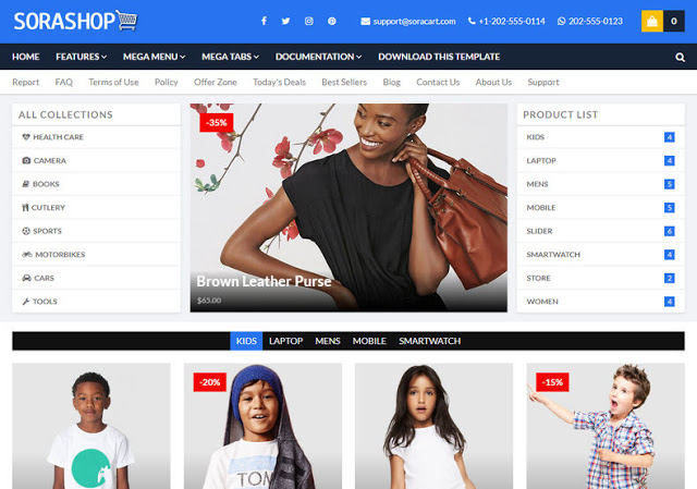 download  e-commerce blogger template for online shop