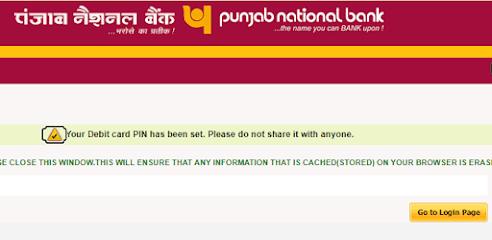 PNB ATM Pin Generation in Hindi