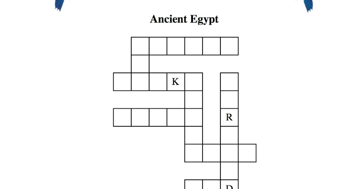 Puzzle Ancient Egypt Crossword Egyptabout