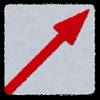 境界標のイラスト(斜め矢印)