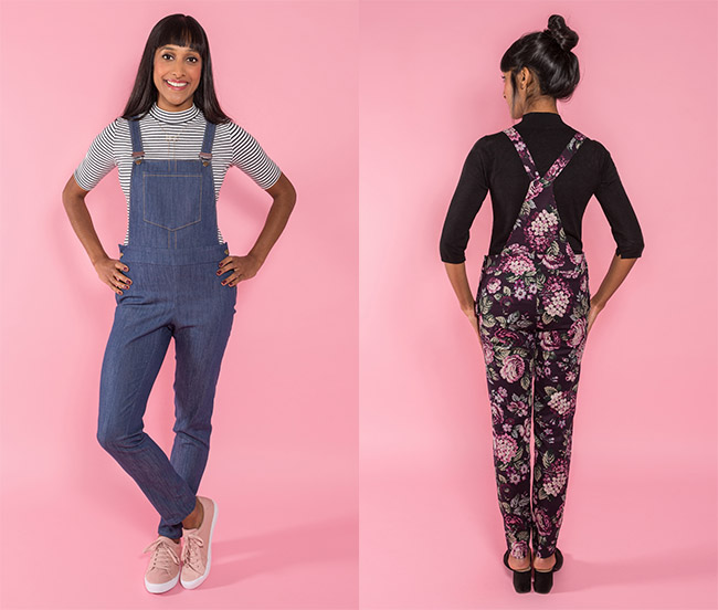 Mila dungarees by Tilly and the Buttons