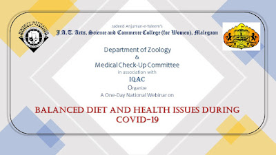 "A One-Day National Webinar on ""Balanced Diet and Health Issues During Covid-19"""