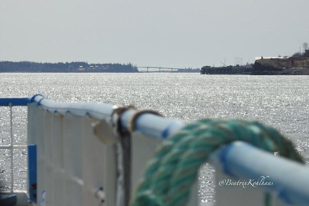 On the ferry,  Campobello bridge in the distance