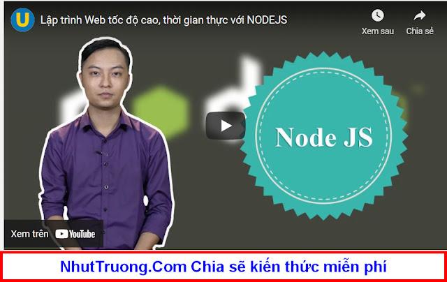 Lập trình web tốc độ cao, Thời gian thực với NodeJS Download miễn phí