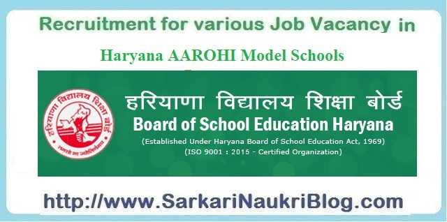 Aarohi School Teaching Non-Teaching Vacancy Recruitment Examination 2019