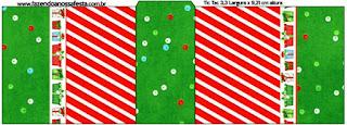 Etiqueta Tic Tac de Navidad a Rayas.