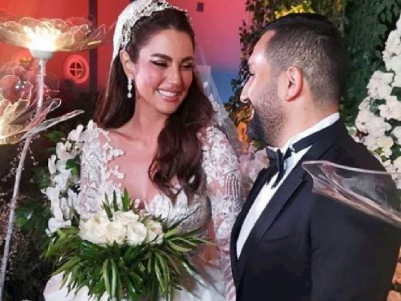 الفنانة درة تحتفل بزفافها على المهندس المصري هاني سعد وسط سرية كبيرة علي الحفل..