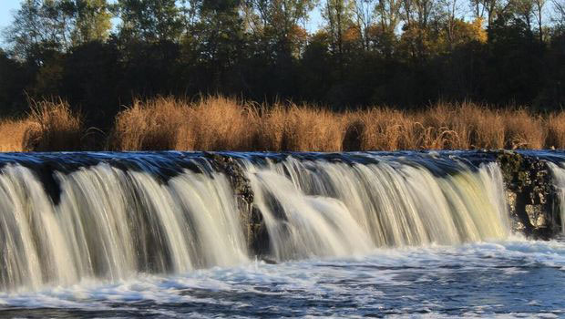 the widest Waterfall in Europe Venta Rapid Latvia
