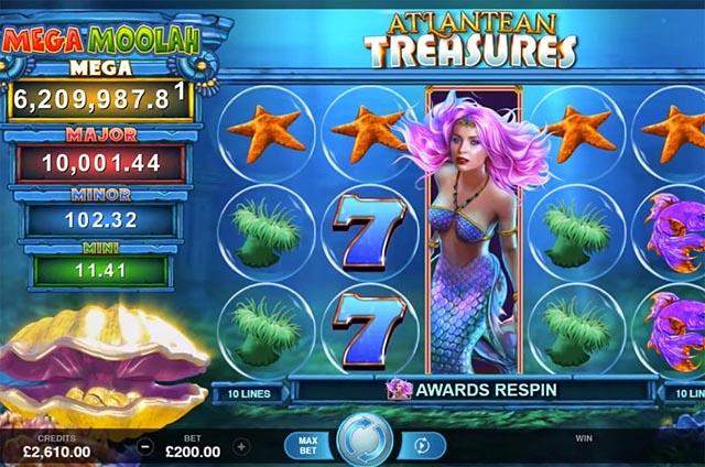Ulasan Slot Microgaming Indonesia - Atlantean Treasures Mega Moolah Jackpots Slot Online
