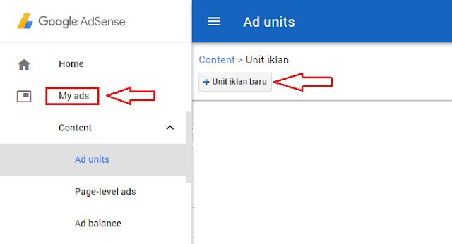 Cara Membuat Unit Iklan Google Adsense Baru Cara Membuat Unit Iklan Google Adsense Baru