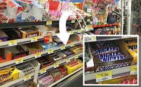 SNICKERS location in Walmart
