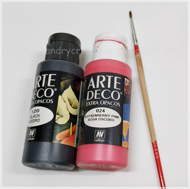 pinturas acrílicas pincel