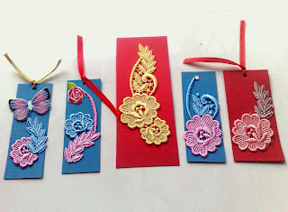 Lace for bookmark decor