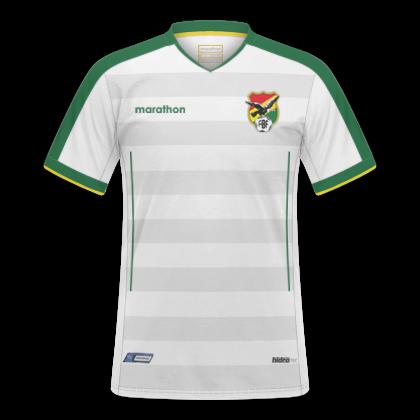 5edf948c6 Descrição: Essas são as camisas que serão utilizadas pela Seleção Boliviana  na Copa América de 2019. A Marathon fez camisas básicas para a seleção  andina ...