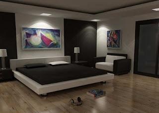 Habitación paredes color negro
