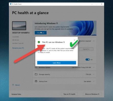 تحميل أداة  PC Health Check من مايكروسوفت
