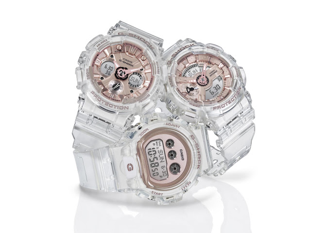 Casio G-SHOCK Introduces Stylish Line Up Of Transparent And Rose Gold Women's Watches