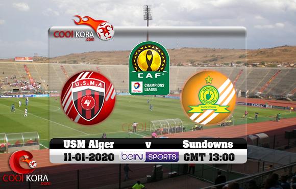مشاهدة مباراة صن داونز و إتحاد الجزائر اليوم 11-1-2020 دوري أبطال أفريقيا