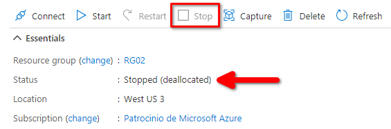 Azure: VM Stopped (deallocated) VS Stopped