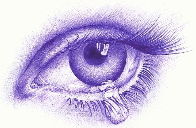 Dibujos De Ojos Tristes A Lapiz