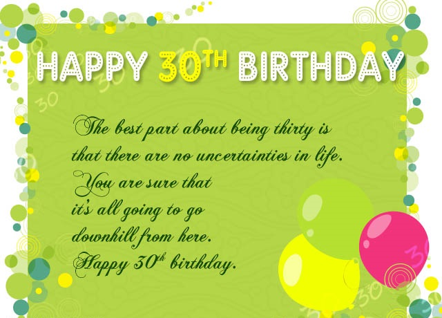 180 Happy 30th Birthday Wishes Quotes Sayings Messages And Hd Images