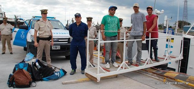 Prefectura rescató a tripulantes a 30 millas de Quequén