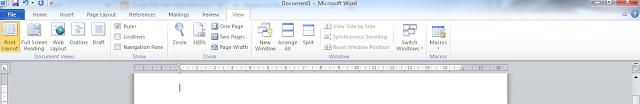 fungsi tab view di microsoft word