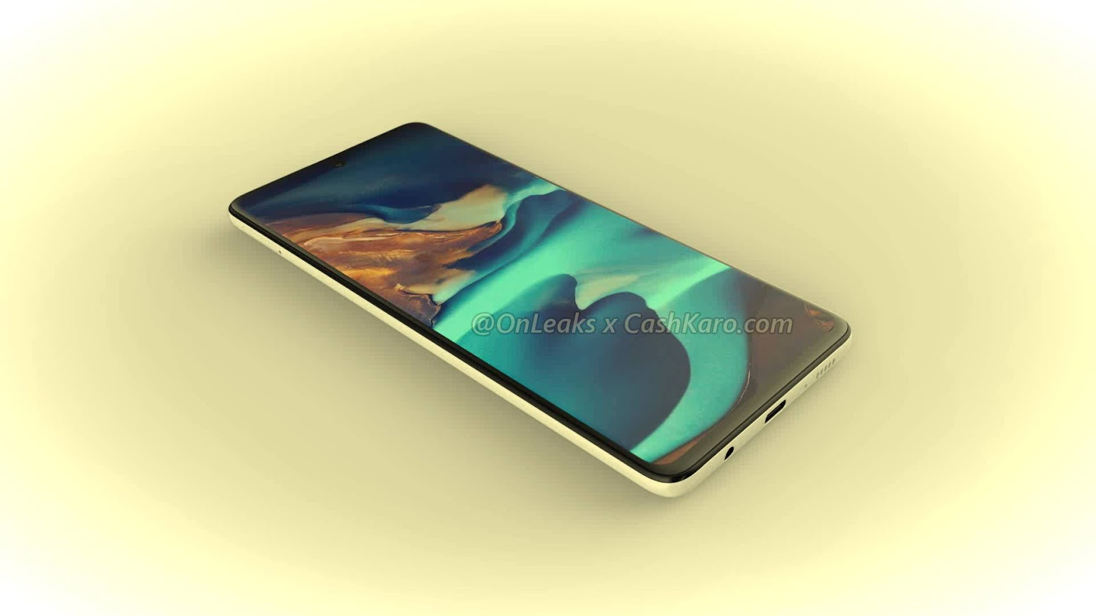 L-shaped quad camera and Infinity-O screen. Potential bestseller Samsung first poses on large renders