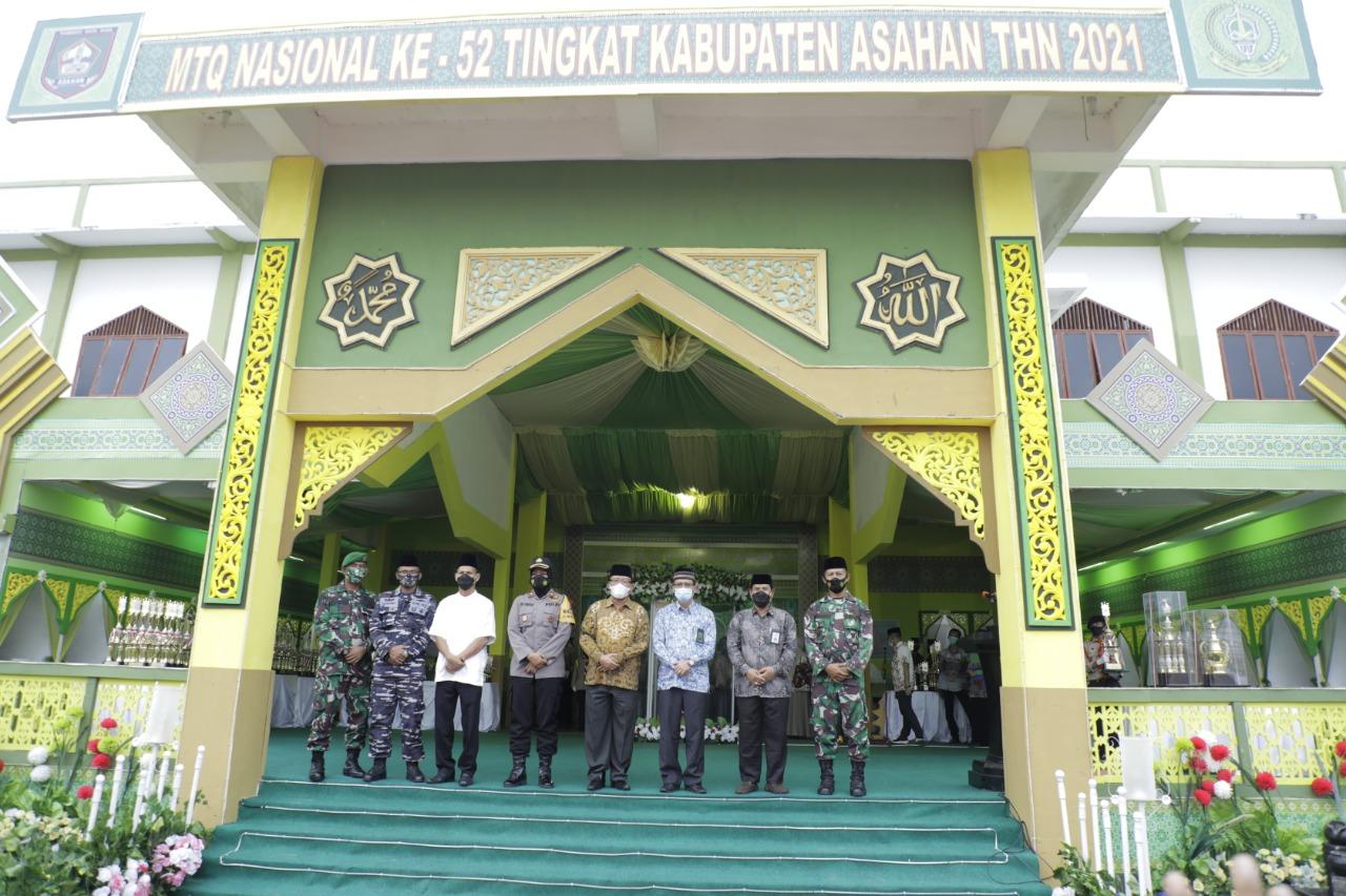 Plh Bupati Asahan Menutup Pelaksanaan MTQ Ke 52 Tingkat Kabupaten Asahan