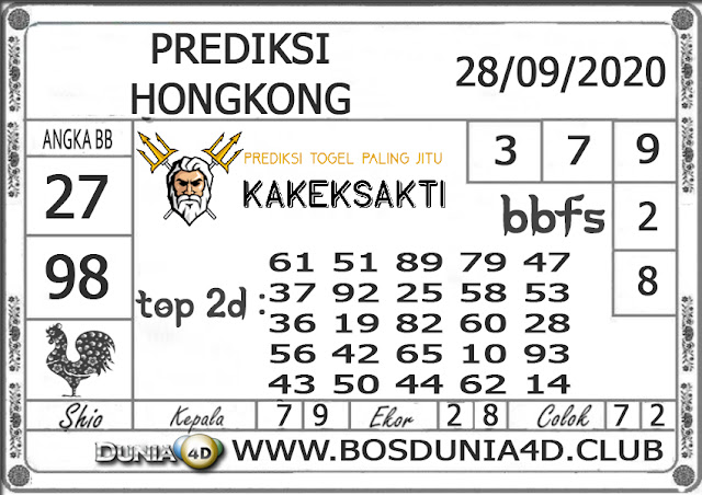Prediksi Togel HONGKONG DUNIA4D 28 SEPTEMBER 2020