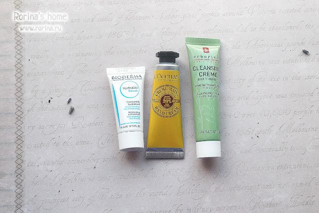Крем для рук L'occitane Ваниль-Карите, Сыворотка Bioderma Hydrabio Sérum и Очищающий крем для лица 7 трав Erborian