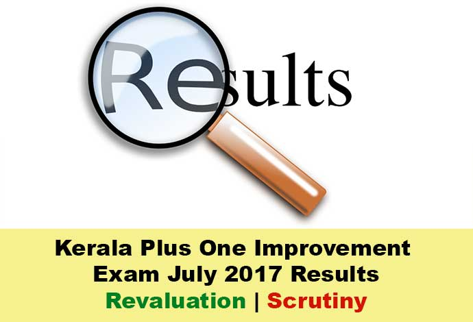 Kerala +1 improvement revaluation result July 2017