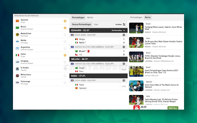flashscore id aplikasi update live score terbaik