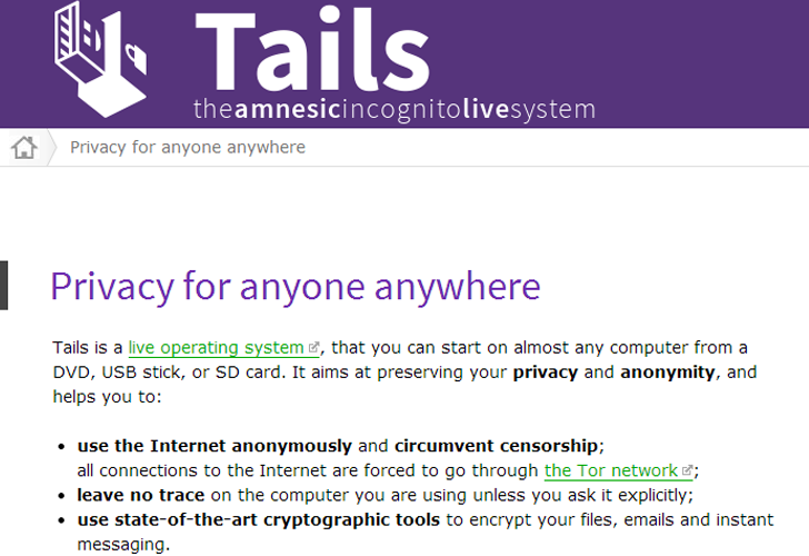 Researchers Demonstrate Zero-Day Vulnerability in Tails Operating System