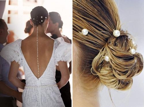 Como fazer os grampos de pérola para cabelo