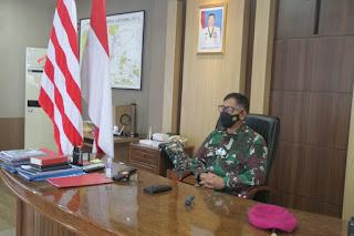 Danlantamal VIII Ikuti Paripurna  Pengangkatan Gubernur Sulut Melalui Vicon